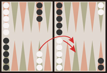 Easy six · Backgammon.se